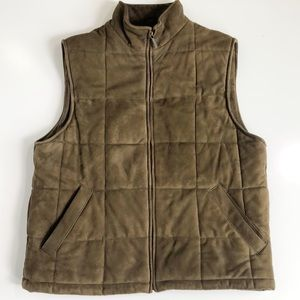 Brooks Brothers Suede Leather Quilted Vest